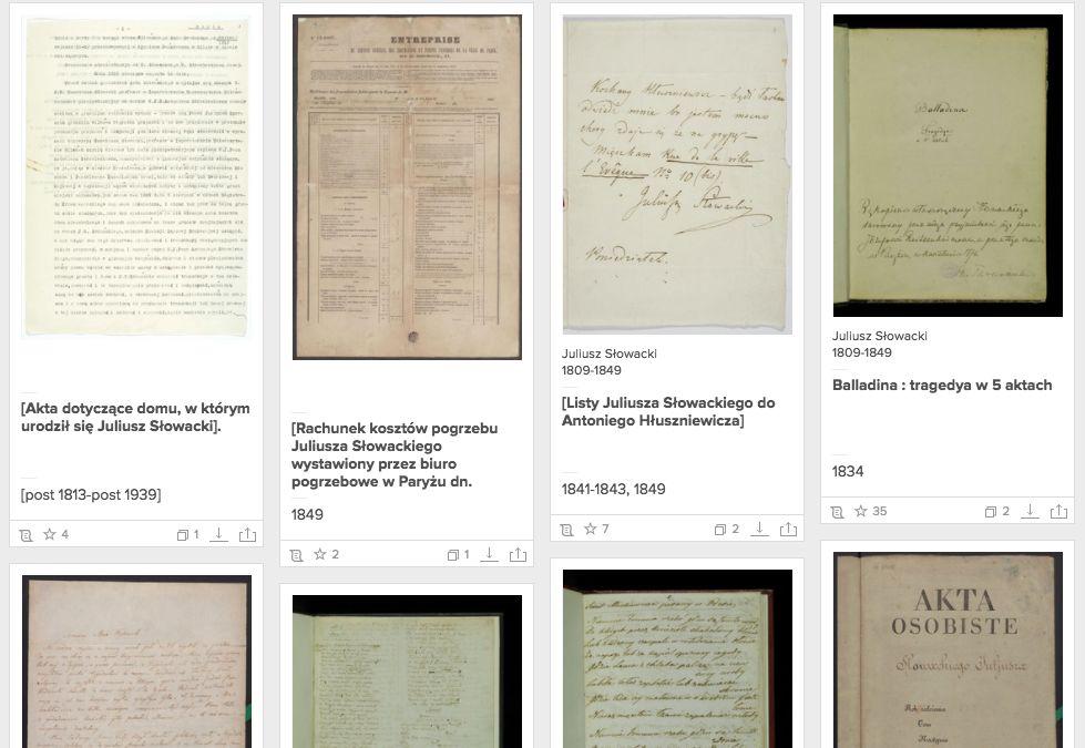 Rękopis Juliusza Słowackiego