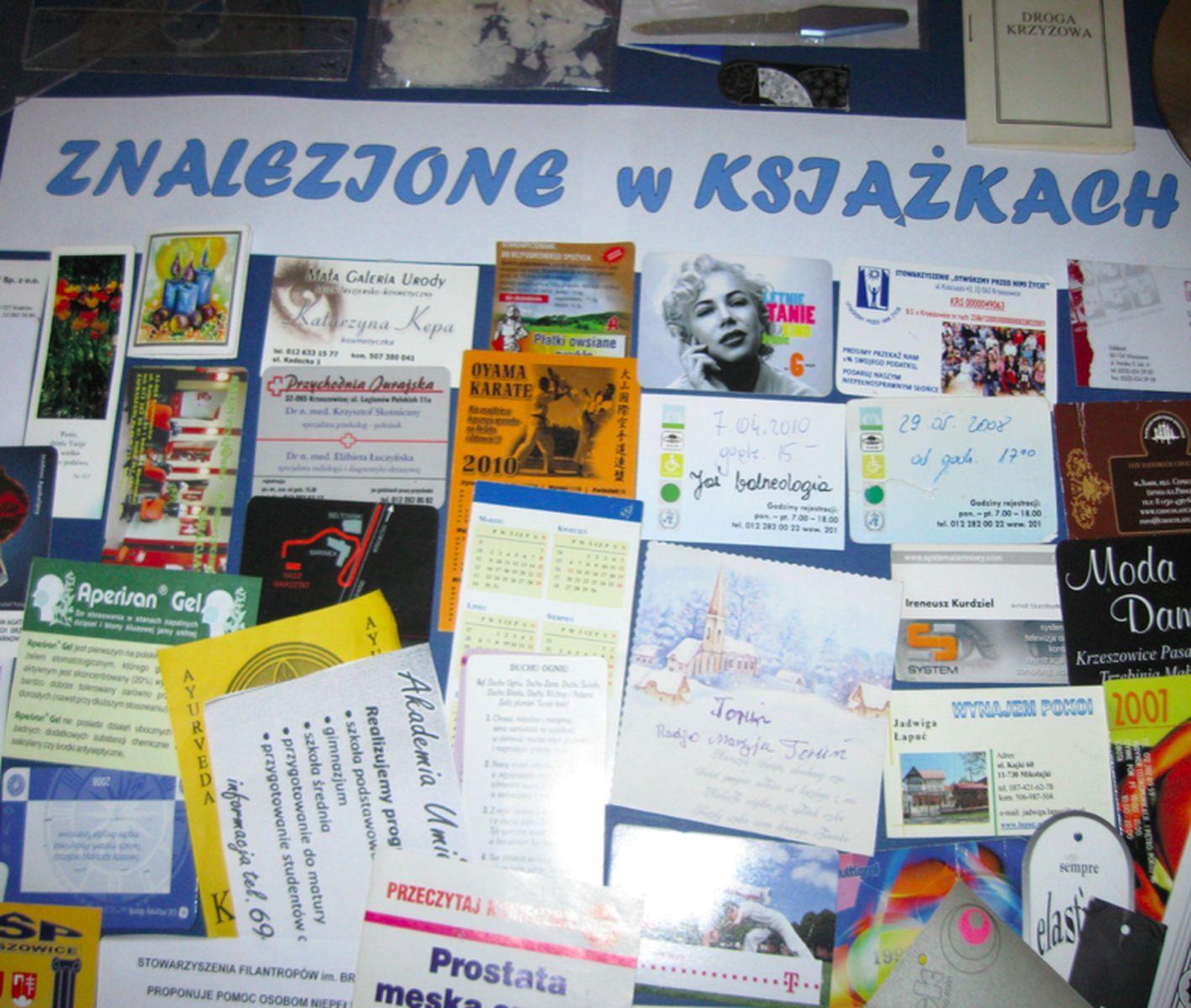 Znalezione w książkach MGBP w Krzeszowicach