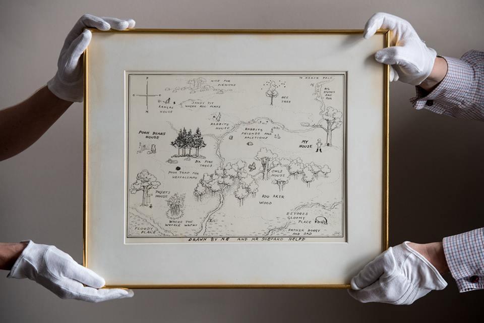 Sotheby's - Mapa Stumilowego Lasu sprzedana na aukcji