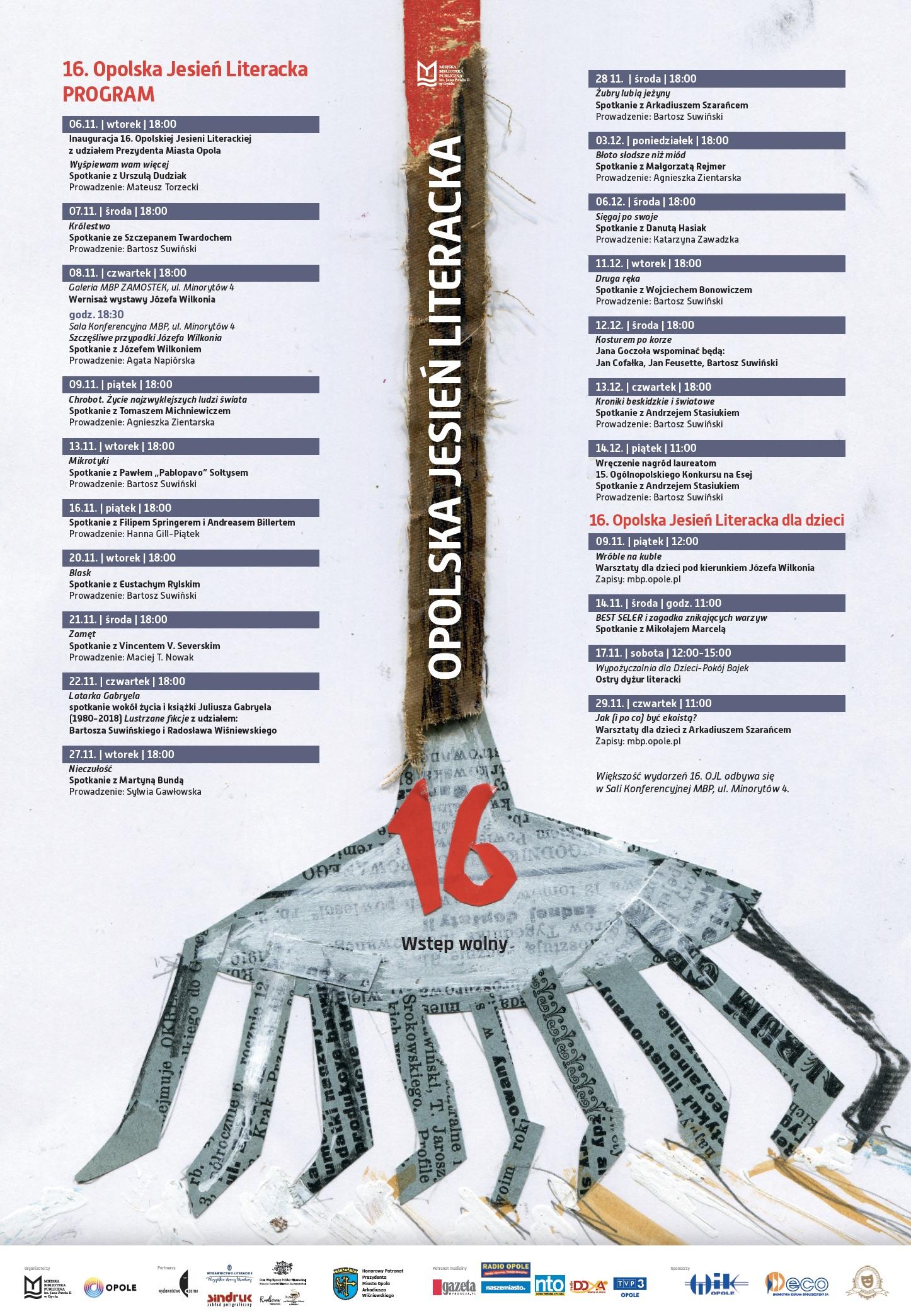 16. Opolska Jesień Literacka