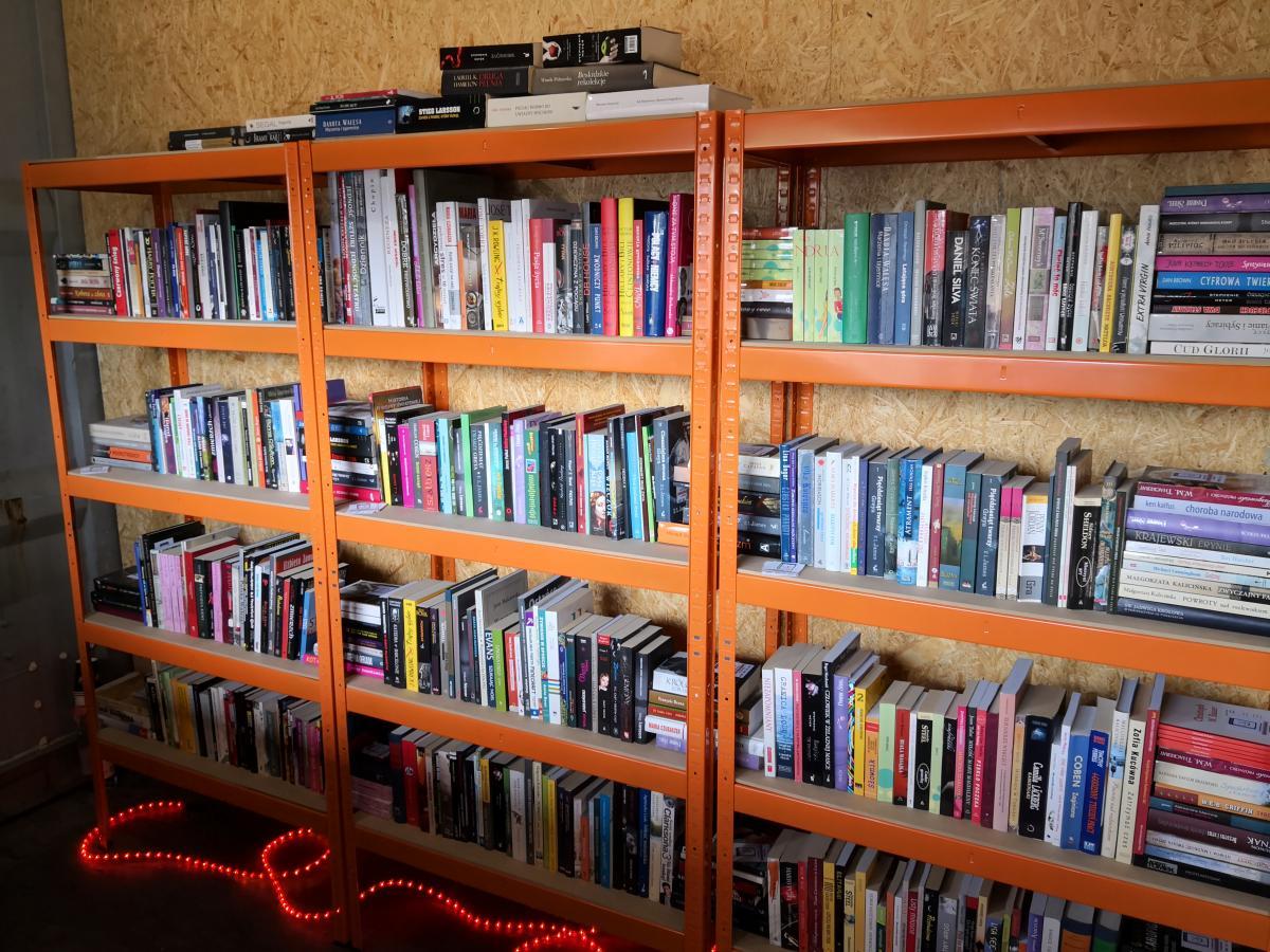 BookRoom w kontenerze i plażing z książką