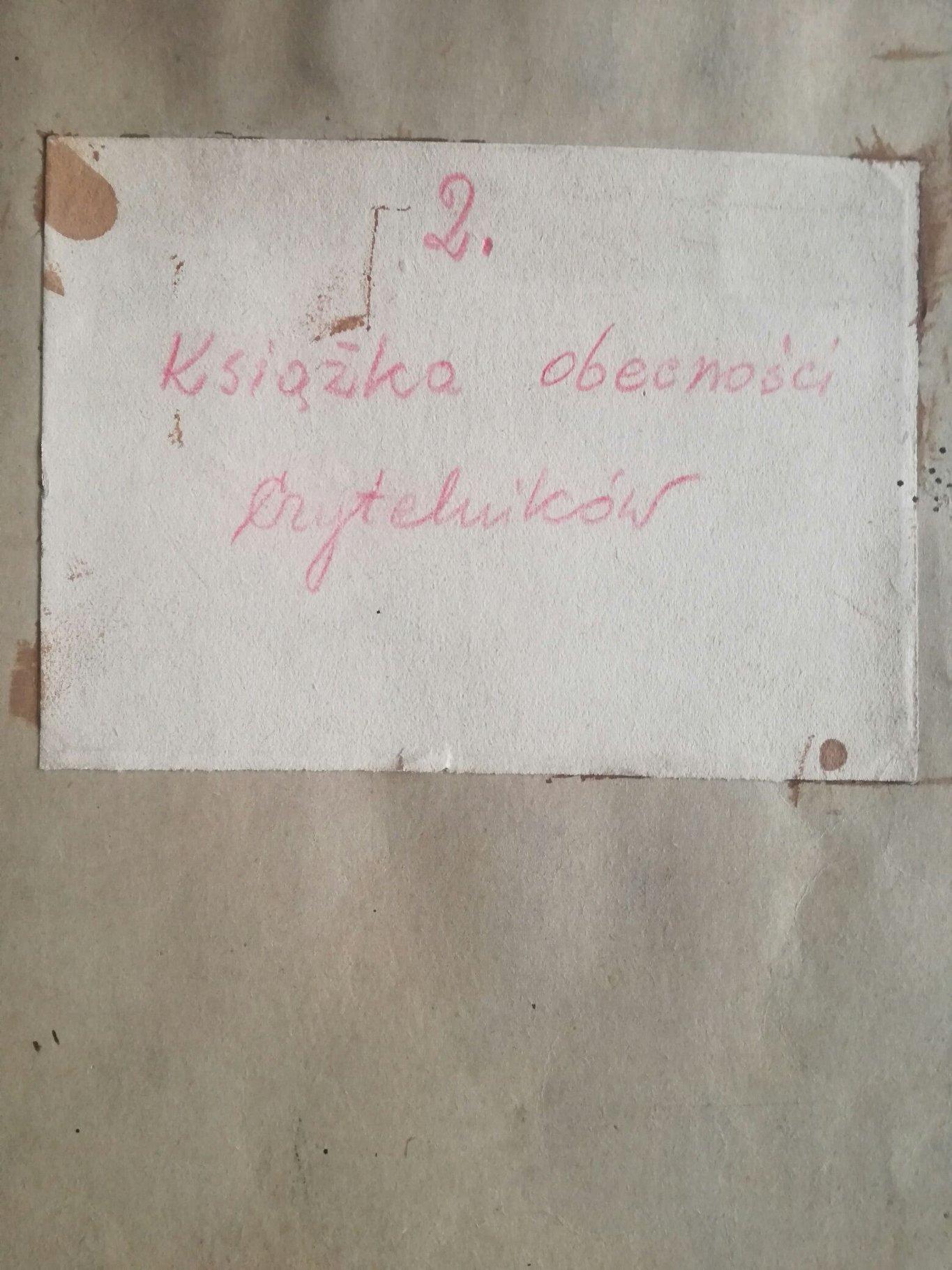 Pierwsza powojenna księga wpisów w Bibliotece KUL