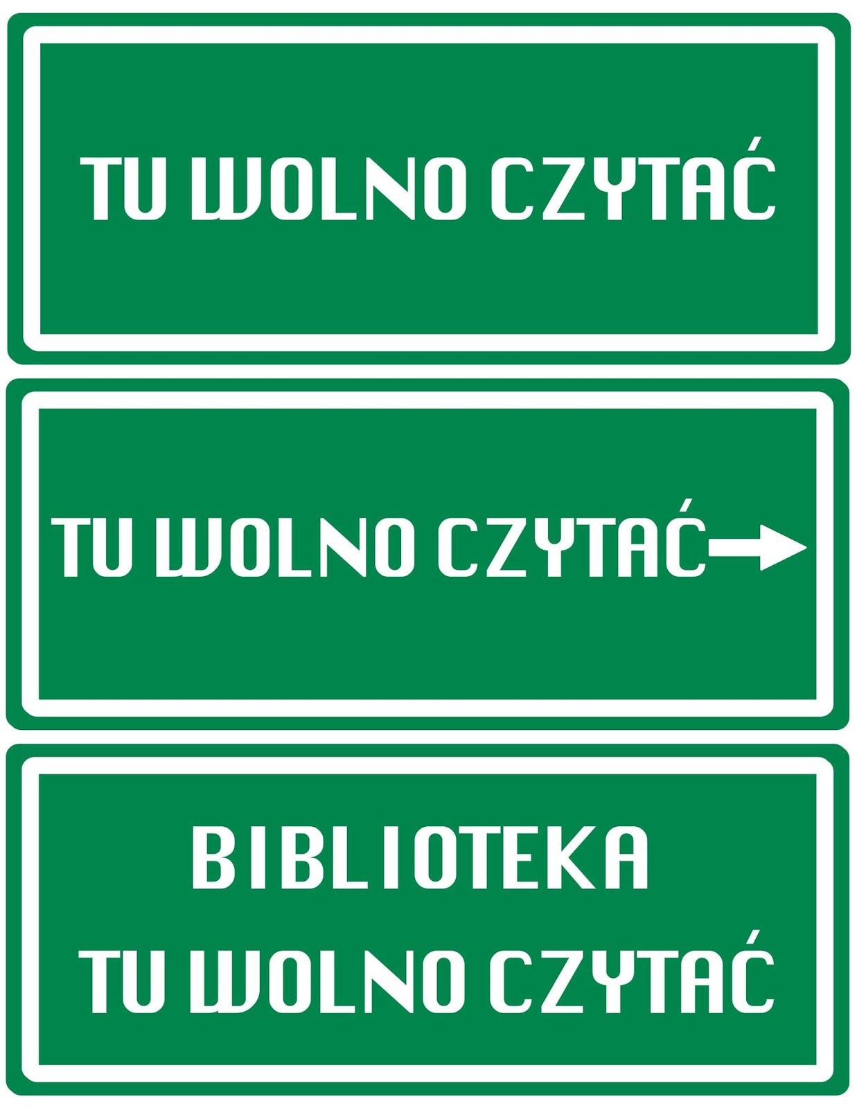 wolno czytać plakat
