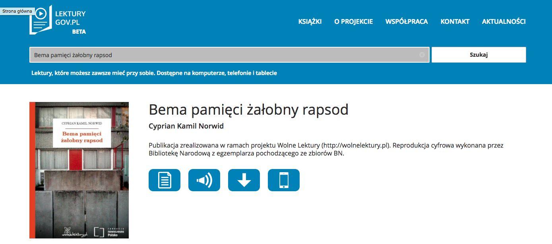 wyszukiwanie lektury.gov.pl